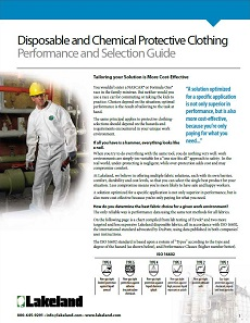 Disposable and Chemical Performance Selection Guide pdf