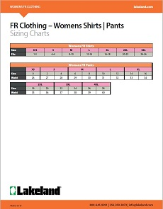 FR Womens Sizing Chart