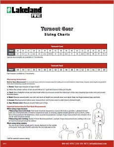 Turnout Gear Sizing